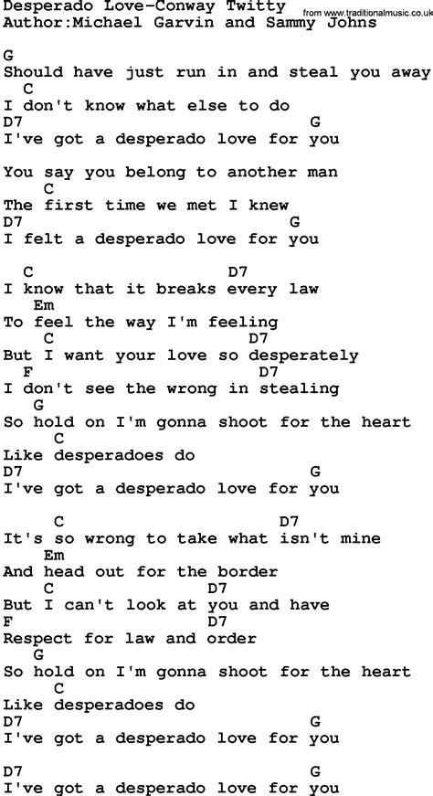 Desperado Lyrics
