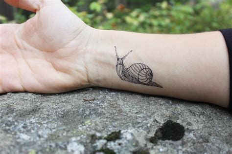 snail temporary tattoo black outline tattoo bug tattoo