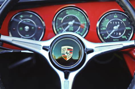 porsche wheel emblem porsche c steering wheel emblem 1227c photograph by