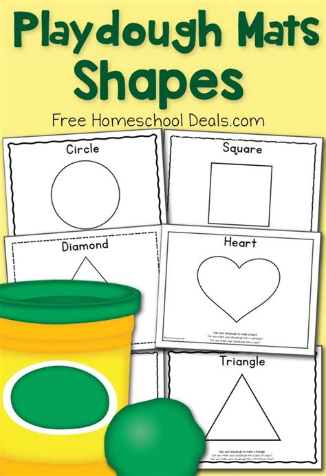 printable playdough activity mats free shapes play dough mats instant download prompts