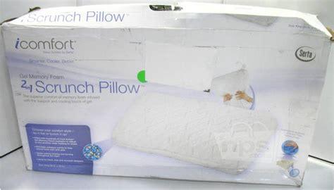 serta icomfort scrunch pillow serta 829399 icomfort king gel memory foam 2 in 1 scrunch