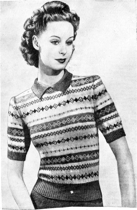 free vintage knitting patterns fair isle and colourwork knitting patterns the