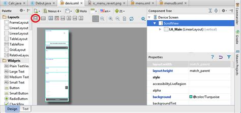 layout view in android studio unable to see completed view layout in android studio