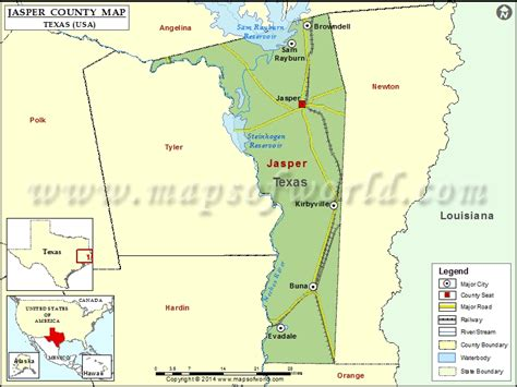 map of jasper texas jasper county map texas