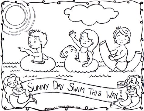 coloring page sunny day sunny coloring pages