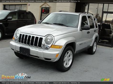 silver jeep liberty 2007 2007 jeep liberty limited bright silver metallic medium