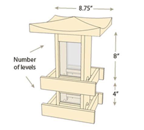 Japanese Style House Plans pagoda bird feeders naturalyards com