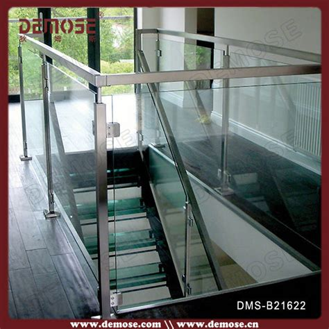 removable banister removable stair handrail fitting glass railing detail