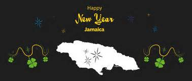 new year in jamaica jamaica happy day greeting card stock vector image