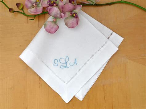 monogrammed linen napkins set of 4 monogrammed linen dinner napkins w 3 initials font c