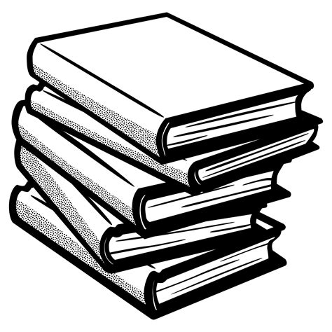 black and white book clipart clipart books lineart
