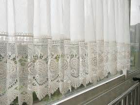 Lace Kitchen Curtains Aliexpress Buy Burnout Lace Curtain For Kitchen And Door White Curtain Kitchen