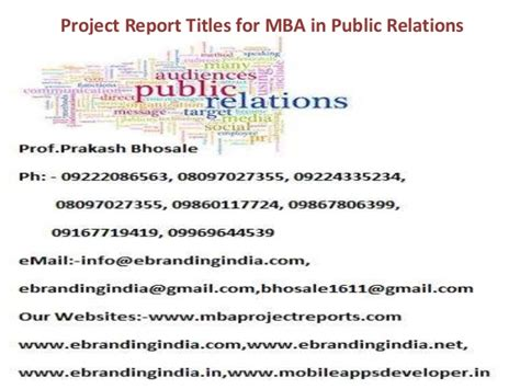 Mba Project Report On Analysis Of Advertisement by Project Report Titles For Mba In Relations