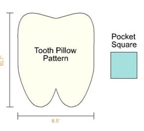 Tooth Pillow Template tooth certificate