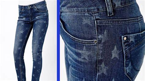como decorar jeans con cloro diy jeans con estado quot bleached quot de estrellas youtube