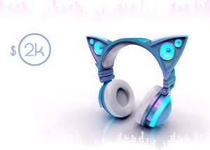 un casque haut parleurs en forme d oreilles de chat