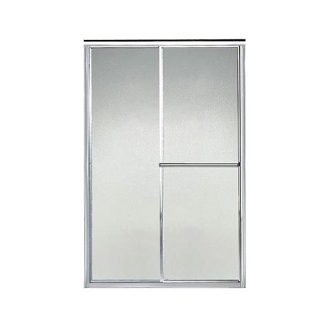 Sterling Deluxe 44 In X 65 1 2 In Framed Sliding Shower Pebbled Glass Shower Door