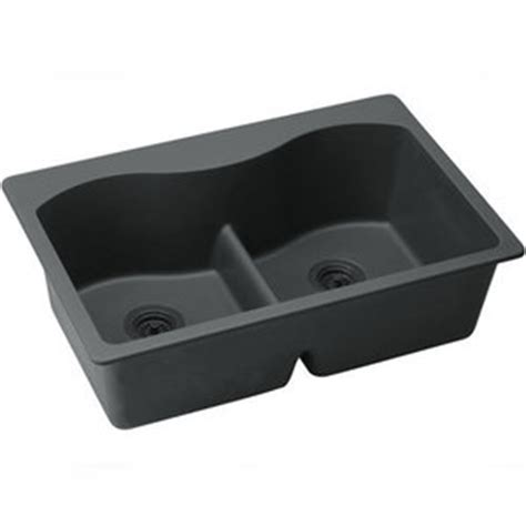 Ferguson Kitchen Sinks Eelglb3322bk0 Quartz Classic White Color Bowl Kitchen Sink Black At Shop Ferguson