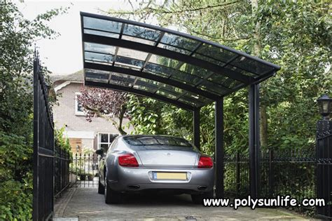 car gazebo sun single aluminum carport with polycarbonate roof