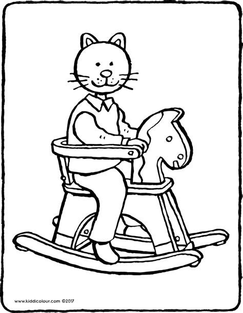 coloring pages of rocking horses toys colouring pages kiddi kleurprentjes