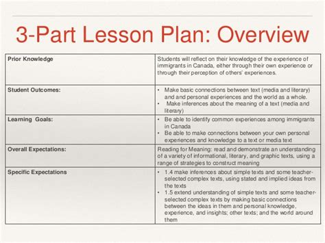 3 part lesson plan template multiculturalism in the classroom
