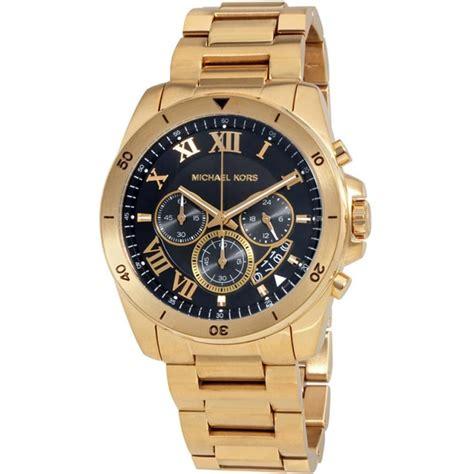 michael kors s brecken gold tone chronograph