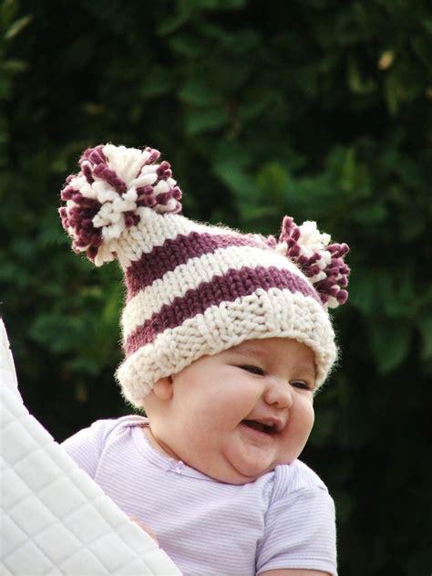 pom pom knit hat pattern baby knitting pattern knit hat knitting pattern pdf