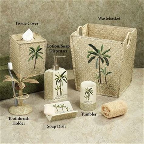Palm Tree Bathroom Accessories 17 Best Images About Tropical Decor On Storage Chest Fiji And Parrots