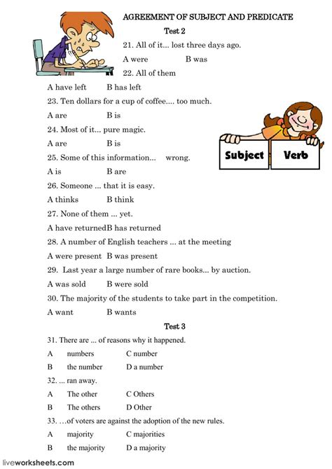 worksheet subject verb agreement worksheets advanced