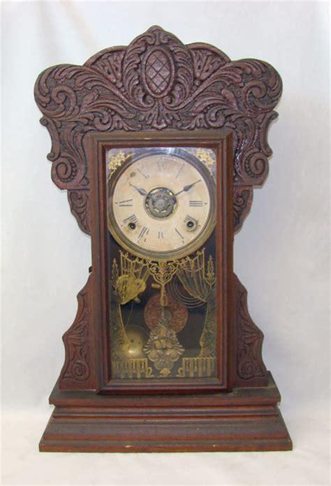 Gilbert Kitchen Clock by Antique Gilbert Capitol 44 Gingerbread Kitchen Clock