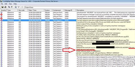 installing the sccm hotfixes on the clients ccmexec com the robot archive task sequence fails after sccm client
