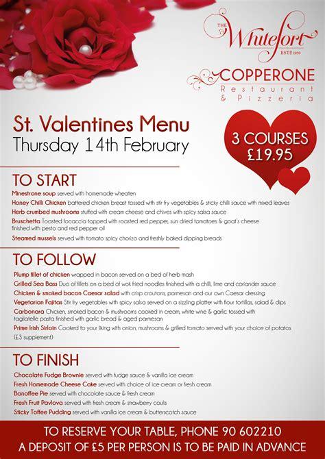 valentines menu new calendar template site