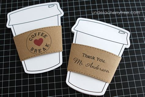 coffee cup gift card holder template a cherry tree jin s color your own starbucks gift