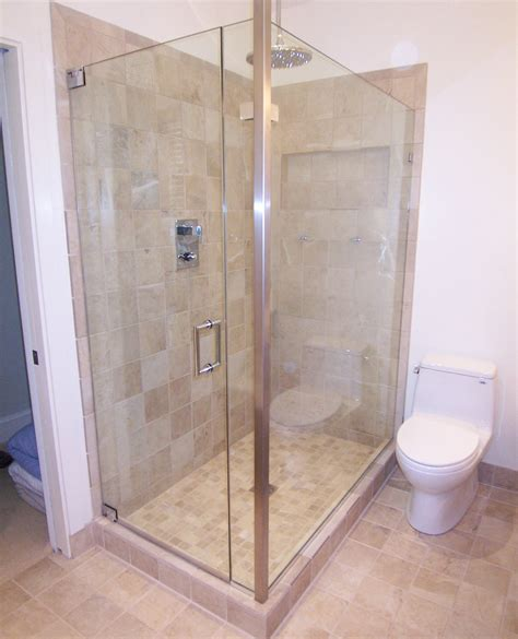 Frameless Corner Shower Doors Door Panel Return Shower Door King Shower Door Installations