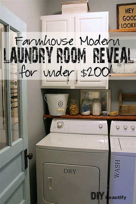 Farmhouse Style House by Farmhouse Modern Laundry Room Reveal Diy Beautify