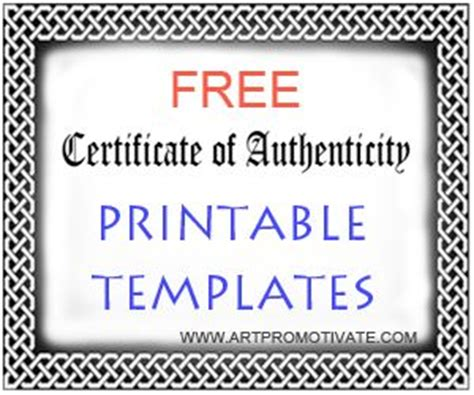free certificate of authenticity template 17 best award template images on award