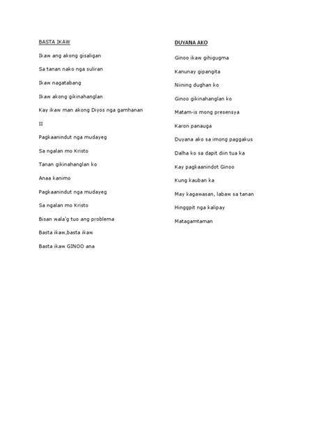 bisaya lyrics cebuano christian song lyrics