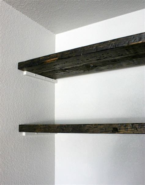 hi sugarplum diy how to fudge reclaimed floating shelves