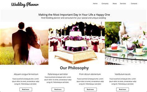Free Wedding Planning Websites by 15 Event Html5 Website Templates Free Premium