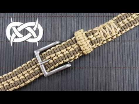 how to make a rattlerstrap wide solomon paracord belt cp