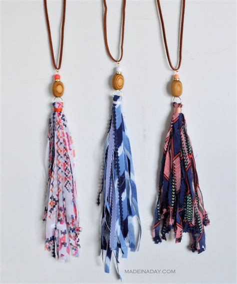 diy fabric tassel necklaces tassel necklace tassels and shabby