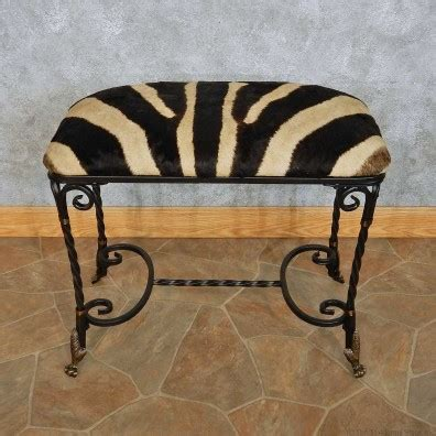 zebra vanity bench african zebra hide vanity bench for sale 15108 the