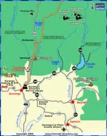 map of durango colorado and surrounding cities durango local area map colorado vacation directory