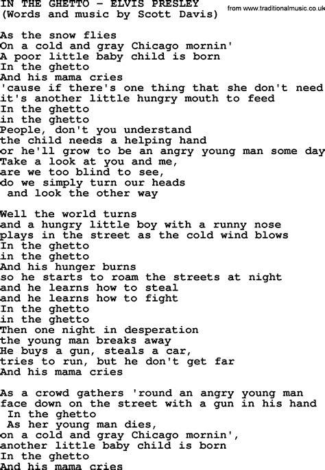 in the by elvis lyrics
