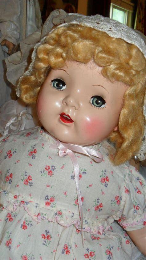 large composition doll large composition doll plastic vintage baby doll