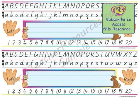 printable alphabet strip alphabet and number line desk strips k 3 teacher resources