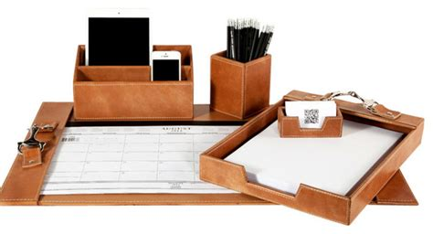 leather desk sets leather desk set contemporary desk accessories