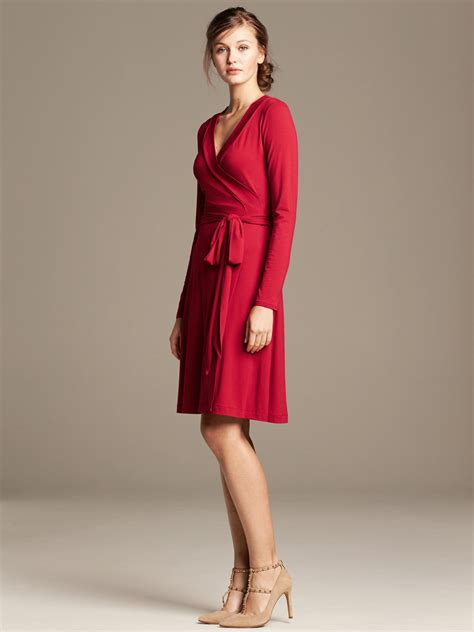 Gemmas Adventures In Shopping Bringing Back The Dress by Banana Republic Gemma Wrap Dress In Crimson Lyst