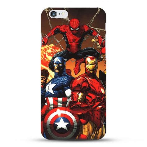 Captain America Shield Iphone 6 Cover marvel spider cover for iphone 6 6s batman superman s logo