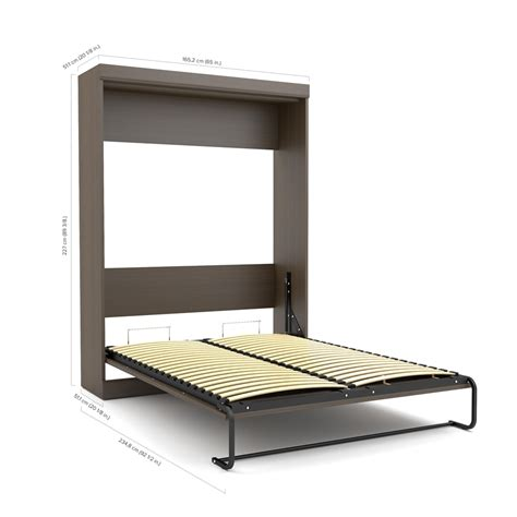 queen wall bed edge by bestar queen wall bed with one 21 quot storage unit